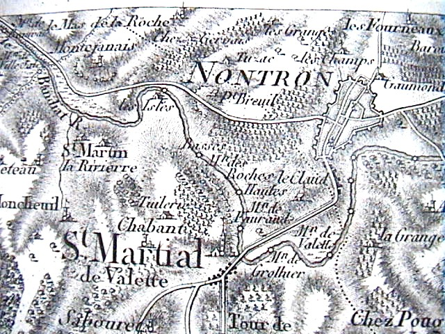 Montejanais, carte de Cassini
