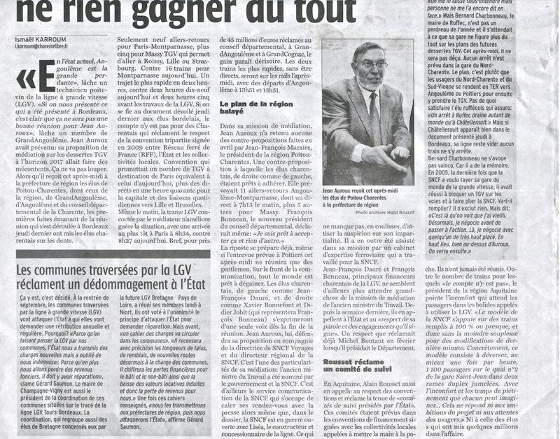 La Charente Libre 17-6-15