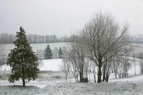 L'étang de Montagenet sous la neige