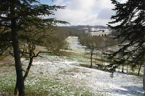 Le parc de Montagenet sous la neige