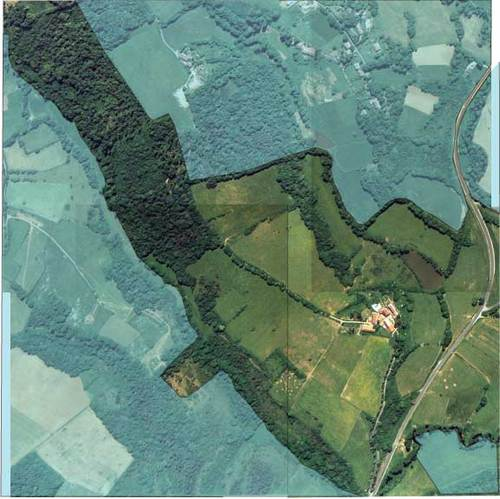 Montagenet, vue satellite du domaine